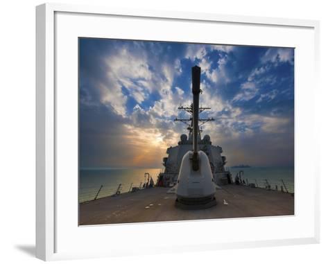 Guided-Missile Destroyer USS Higgins-Stocktrek Images-Framed Art Print
