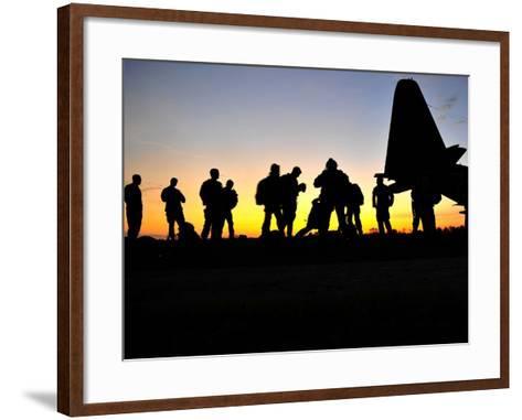 Green Berets Prepare to Board a KC-130 Aircraft-Stocktrek Images-Framed Art Print