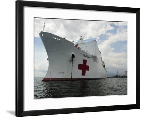 Military Sealift Command Hospital Ship Usns Comfort at Port-Stocktrek Images-Framed Art Print