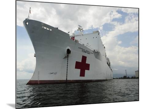Military Sealift Command Hospital Ship Usns Comfort at Port-Stocktrek Images-Mounted Photographic Print