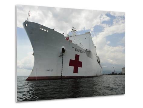 Military Sealift Command Hospital Ship Usns Comfort at Port-Stocktrek Images-Metal Print