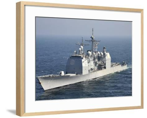 The Ticonderoga-Class Guided-Missile Cruiser USS Shiloh-Stocktrek Images-Framed Art Print