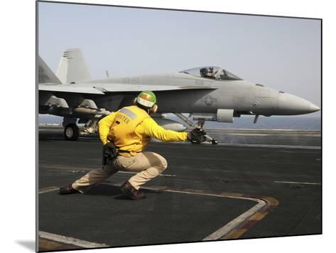 A Shooter Launches an F/A-18E Super Hornet from USS Dwight D Eisenhower-Stocktrek Images-Mounted Photographic Print