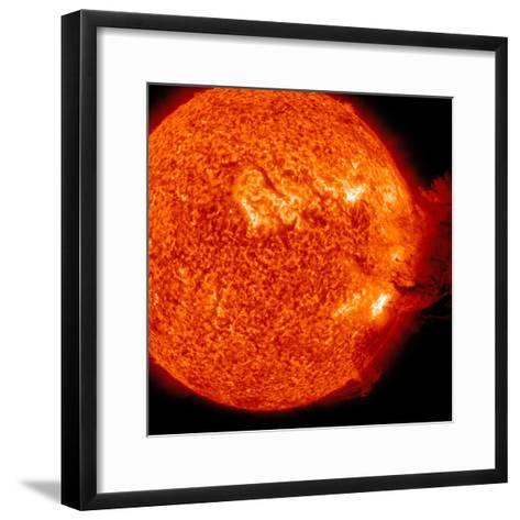 A M-2 Solar Flare with Coronal Mass Ejection-Stocktrek Images-Framed Art Print