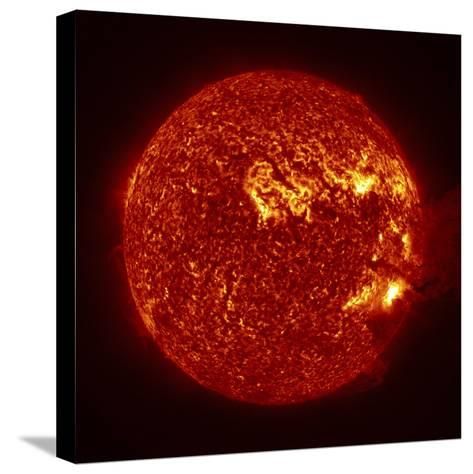 A M-2 Solar Flare with Coronal Mass Ejection-Stocktrek Images-Stretched Canvas Print