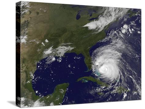 Satellite View of Hurricane Irene-Stocktrek Images-Stretched Canvas Print