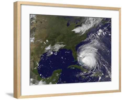 Satellite View of Hurricane Irene-Stocktrek Images-Framed Art Print