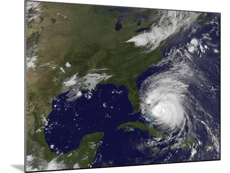 Satellite View of Hurricane Irene-Stocktrek Images-Mounted Photographic Print
