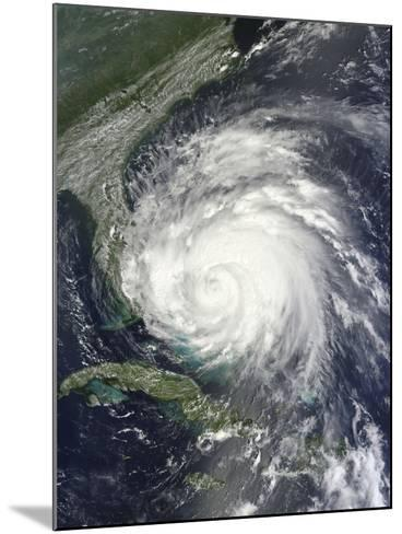 Satellite View of Hurricane Irene over the Bahamas.-Stocktrek Images-Mounted Photographic Print