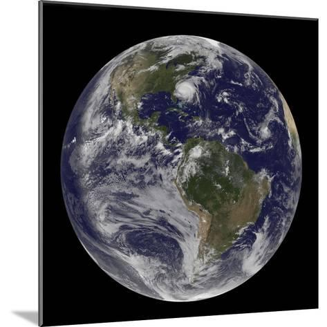 Full Earth with Hurricane Irene Visible on the United States East Coast-Stocktrek Images-Mounted Photographic Print