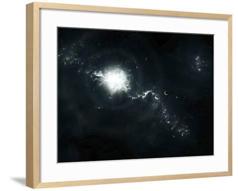 A Recently Discovered Nebula with Visible Habitable Planets-Stocktrek Images-Framed Art Print