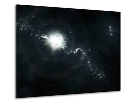 A Recently Discovered Nebula with Visible Habitable Planets-Stocktrek Images-Metal Print