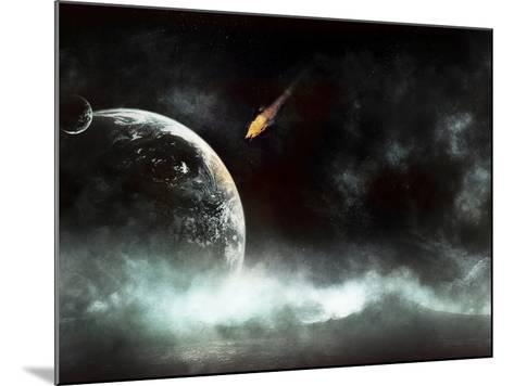 An Abandoned Planet About to Get Hit by a Gigantic Asteroid-Stocktrek Images-Mounted Photographic Print
