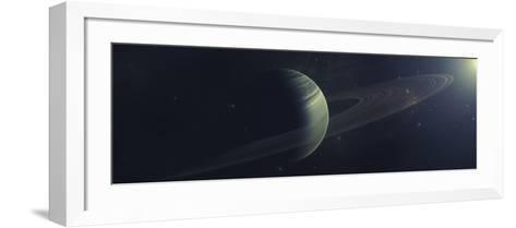 Gas Giant Orbiting Sirius Star Along with Four Moons-Stocktrek Images-Framed Art Print