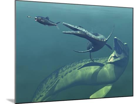 Marine Predators of the Cretaceous Period-Stocktrek Images-Mounted Photographic Print