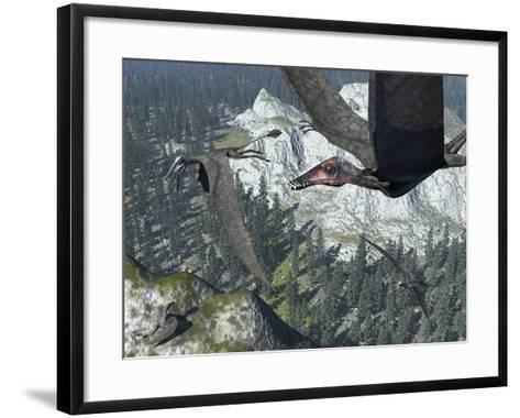 A Flock of Dorygnathus-Stocktrek Images-Framed Art Print