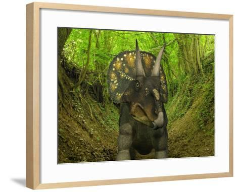 A Nedoceratops Wanders a Cretaceous Forest-Stocktrek Images-Framed Art Print