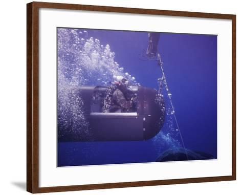 A Seal Delivery Vehicle on Tether with a Buoy Recovery Line-Stocktrek Images-Framed Art Print