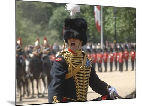 An Officer Shouts Commands During the Trooping the Colour Ceremony at Horse Guards Parade, London-Stocktrek Images-Mounted Photographic Print