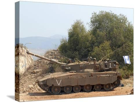 The Merkava Mark III-D main battle tank of the Israel Defense Force-Stocktrek Images-Stretched Canvas Print