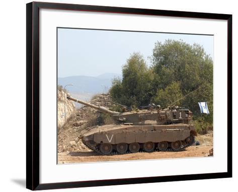 The Merkava Mark III-D main battle tank of the Israel Defense Force-Stocktrek Images-Framed Art Print