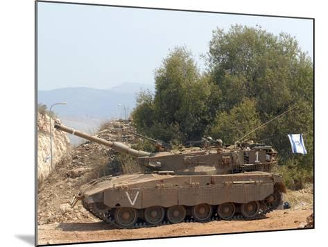 The Merkava Mark III-D main battle tank of the Israel Defense Force-Stocktrek Images-Mounted Photographic Print