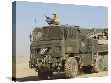 A British Army Foden 6X6 HeaVY Recovery Vehicle-Stocktrek Images-Stretched Canvas Print