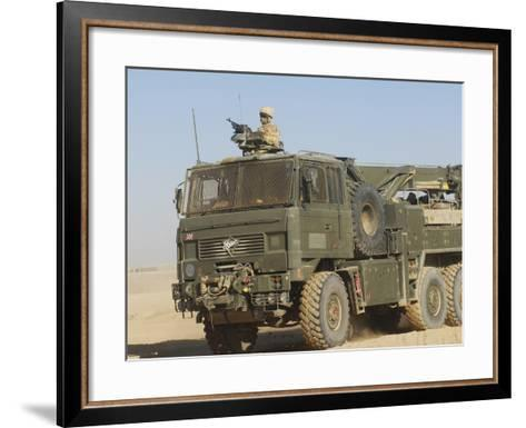 A British Army Foden 6X6 HeaVY Recovery Vehicle-Stocktrek Images-Framed Art Print