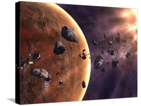 Artist's Concept of a Supernova About to Incinerate This Planetary System-Stocktrek Images-Stretched Canvas Print