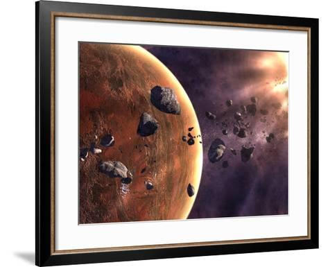 Artist's Concept of a Supernova About to Incinerate This Planetary System-Stocktrek Images-Framed Art Print