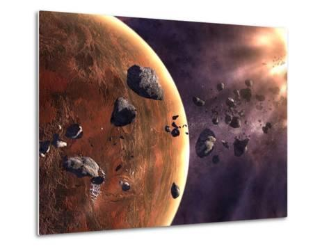 Artist's Concept of a Supernova About to Incinerate This Planetary System-Stocktrek Images-Metal Print