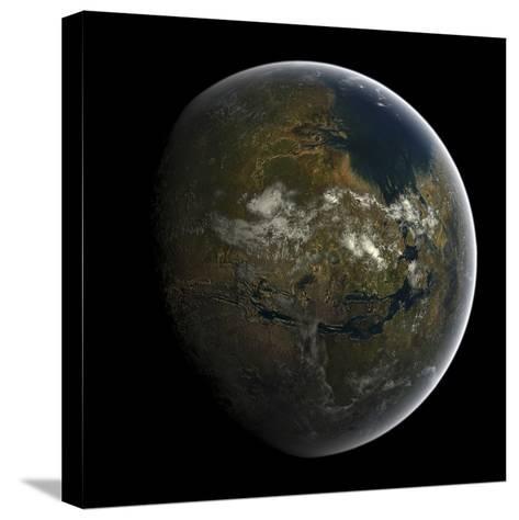 Artist's Concept of a Terraformed Mars-Stocktrek Images-Stretched Canvas Print