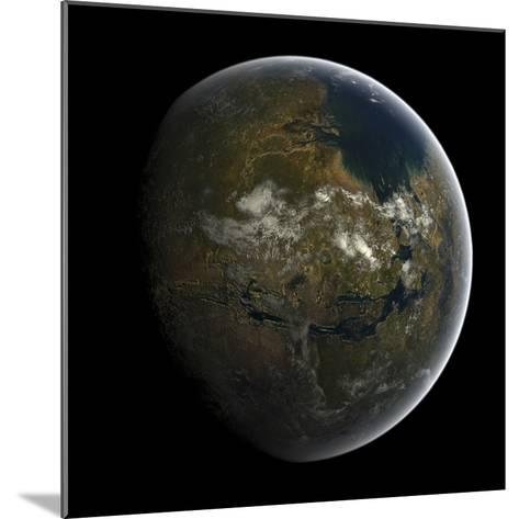 Artist's Concept of a Terraformed Mars-Stocktrek Images-Mounted Photographic Print