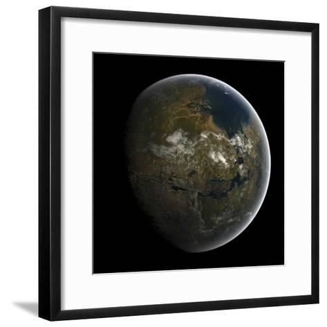 Artist's Concept of a Terraformed Mars-Stocktrek Images-Framed Art Print