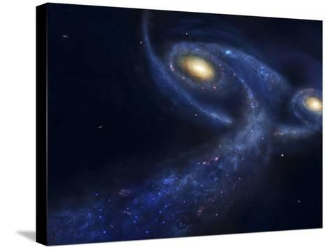 The Predicted Collision Between the Andromeda Galaxy and the Milky Way-Stocktrek Images-Stretched Canvas Print