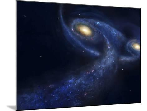 The Predicted Collision Between the Andromeda Galaxy and the Milky Way-Stocktrek Images-Mounted Photographic Print