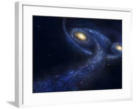 The Predicted Collision Between the Andromeda Galaxy and the Milky Way-Stocktrek Images-Framed Art Print