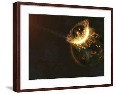 Ancient Earth Impact-Stocktrek Images-Framed Art Print