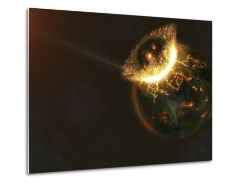 Ancient Earth Impact-Stocktrek Images-Metal Print