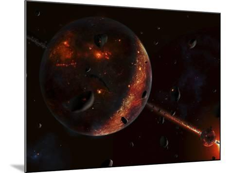 A Scene Portraying the Early Stages of a Solar System Forming-Stocktrek Images-Mounted Photographic Print