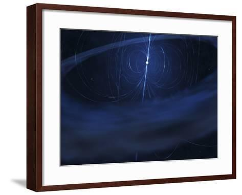 A Magnetar, a Very Small, Compact Neutron Star That Periodically Emits Light-Stocktrek Images-Framed Art Print