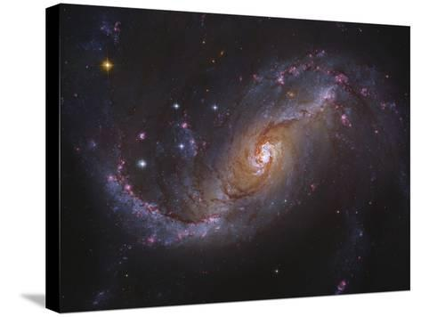 Barred Spiral Galaxy NGC 1672 in Dorado-Stocktrek Images-Stretched Canvas Print