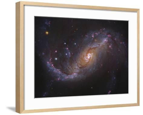 Barred Spiral Galaxy NGC 1672 in Dorado-Stocktrek Images-Framed Art Print