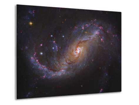 Barred Spiral Galaxy NGC 1672 in Dorado-Stocktrek Images-Metal Print