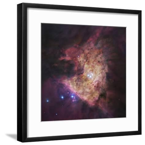 The Center of the Orion Nebula, known as the Trapezium Cluster-Stocktrek Images-Framed Art Print