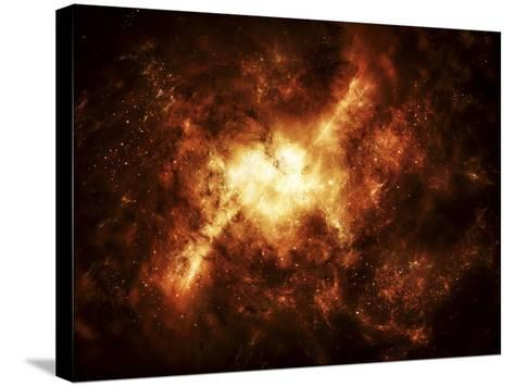 A Nebula Surrounded by Stars-Stocktrek Images-Stretched Canvas Print