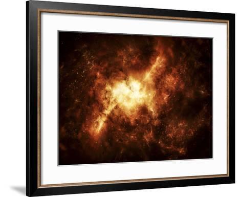 A Nebula Surrounded by Stars-Stocktrek Images-Framed Art Print
