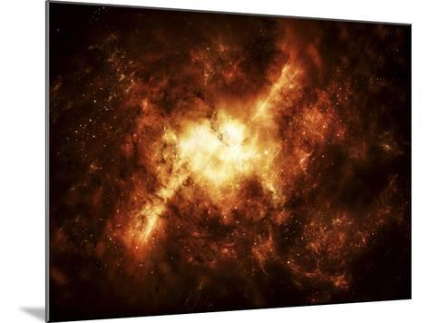 A Nebula Surrounded by Stars-Stocktrek Images-Mounted Photographic Print