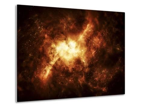 A Nebula Surrounded by Stars-Stocktrek Images-Metal Print