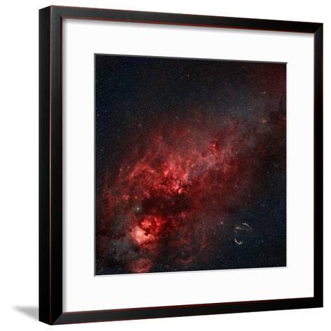 Constellation Cygnus with Multiple Nebulae Visible-Stocktrek Images-Framed Art Print